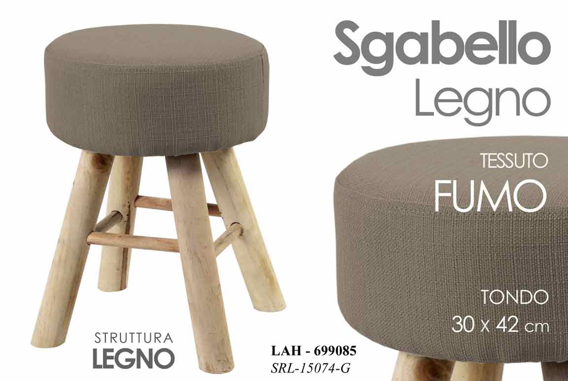 Sgabello natural zebra pop interni scab design tessuto verde